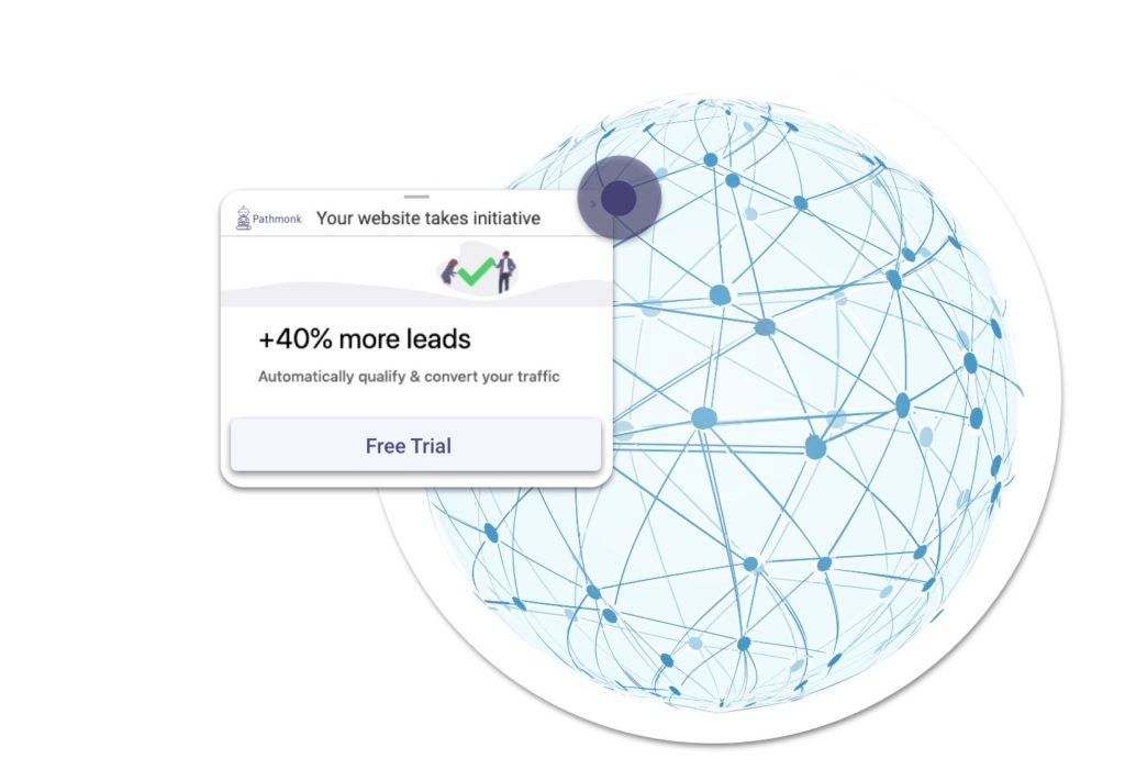 Pathmonk helps you to increase website leads automatically