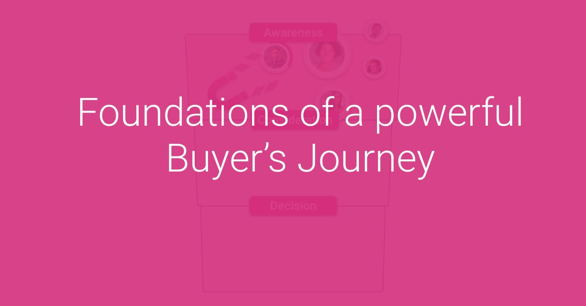 Foundations of a powerful Buyer's Journey Hero