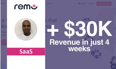 Pathmonk's Micro-Experiences Helped Remo Get +$30k Revenue in 4 weeks